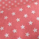 Glitter Silver Stars on pink - Cotton & linen