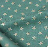 Glitter Silver Stars on blue - Cotton & linen