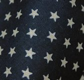 Glitter Silver Stars on navy blue : 6m bolt