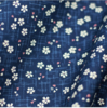 Small sakura on navy blue - Cotton by Sevenberry - 6 m bolt