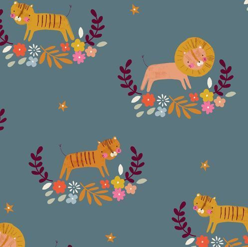 Gentle lion & loines by Loise @ peper & cloth for Dashwood Studio - Cotton - 10m