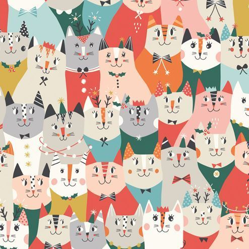 Cat´s christmas party by Dashwood Studio - Cotton - 10m