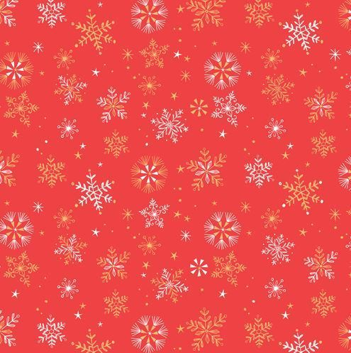 Ice crystals on red by Bethan Janine for Dashwood Studio - Cotton - 10m