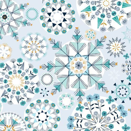 Ice kaleidoscope by Bethan Janine for Dashwoodstudio - Cotton - 10m