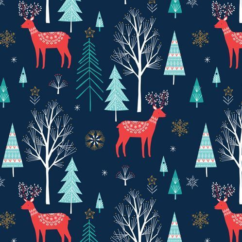 Snowy forest by Bethan Janine for Dashwood Studio - Cotton - 10m