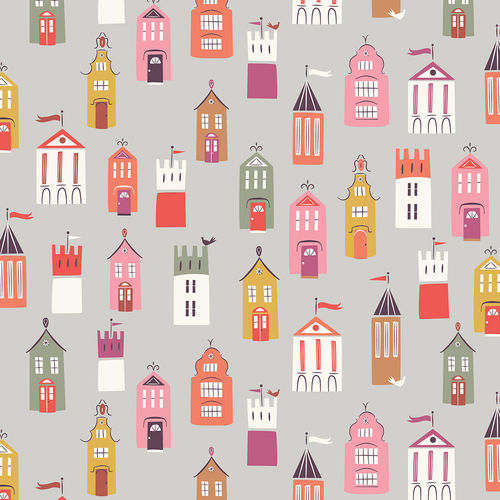 Houses and castles by Ali Brooks for Dashwood Studio - Cotton - 10m
