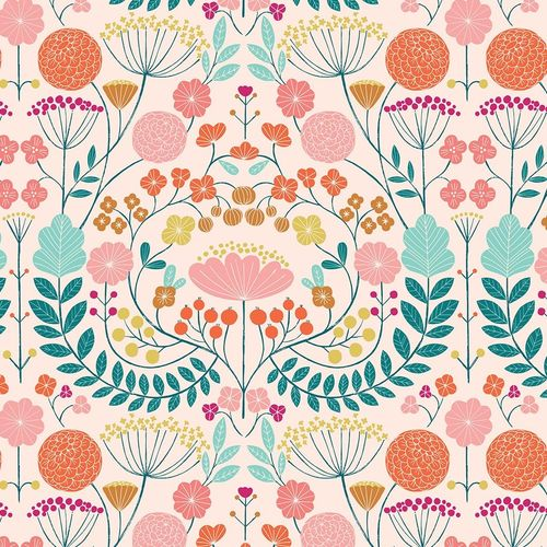 Pink flowers - by Bethan Janine for Dashwood Studio - Cotton - 10m