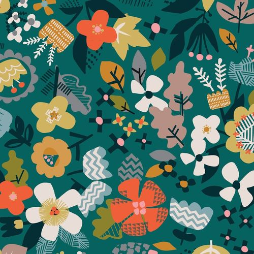 Meadow floral - Hibernate de Stephanie Thannhauser para Dashwood Studio - 10m