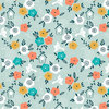 Flowers and birds on aqua - Summer Breeze by Sarah Knight - 10m