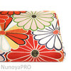 Kiku hanabi  - Red/Orange - Cotton sheeting by Kokka - 10m